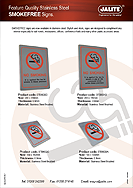 Jalite - Smokefree (No Smoking) Stainless Steel Signs