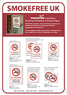 Jalite - Smokefree (No Smoking) White Signs