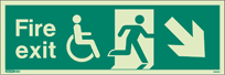 4045U - Jalite Mobility Impaired Fire Exit Sign