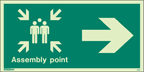 4051I -  Jalite Assembly Point Arrow Right Fire Safety Sign
