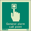 4155C - Jalite General Alarm Call Point Sign