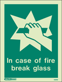 4324D - Jalite In Case of Fire Break Glass
