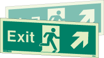 436DST - Jalite Fire Exit Double Sided Sign