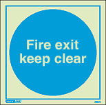 5257E - Jalite Fire Exit Keep Clear Sign