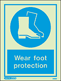 5498D - Jalite Wear foot protection Sign