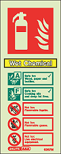 6267M - Jalite Wet Chemica Fire Extinguisher Identification Signs