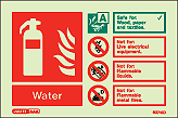 6374ID - Jalite Water Fire Extinguisher Identification Signs