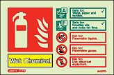 6407ID - Jalite Wet Chemica Fire Extinguisher Identification Signs