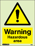 7212D - Jalite Warning Hazardous Area Sign