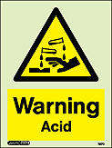 7217D - Jalite Warning Acid Sign