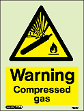 7223D - Jalite Warning Compressed Gas Sign