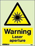 7251D - Jalite Warning Laser aperture Sign