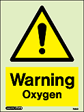 7335D - Jalite Warning Oxygen Sign