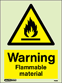 7422D - Jalite Warning Flammable Material Sign