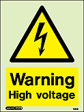 7424D - Jalite Warning High Voltage Sign
