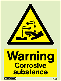 7440D - Jalite Warning Corrosive Substance Sign