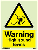 7494D - Jalite Warniing High Sound Levels Sign