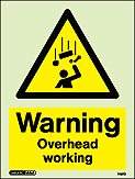 7497D - Jalite Warning Overhead Working Sign