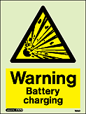 7523D - Jalite Warning Battery Charging Sign