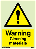 7526D - Jalite Warning Cleaning Materials Sign