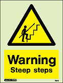 7531D - Jalite Warning Steep Steps Sign