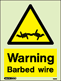 7536D - Jalite Security Warning Barbed Wire Sign