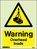 7548D - Jalite Warning Overhead Loads Sign