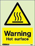7561D - Jalite Warning Hot Surface Sign