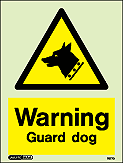 7577D - Jalite Security Warning Guard Dog Sign