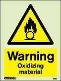 7578D - Jalite Warning Oxidizing Material Sign
