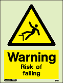 7579D - Jalite Warning Risk of Falling Sign
