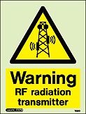 7582D - Jalite Warning RF Radiation Transmitter Sign
