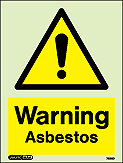 7586D - Jalite Warning Asbestos Sign