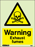 7589D - Jalite Warning Exhaust Fumes Sign