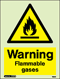 7590D - Jalite Warning Flammable Gases Sign