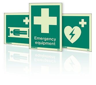 First Aid Equipment Signs